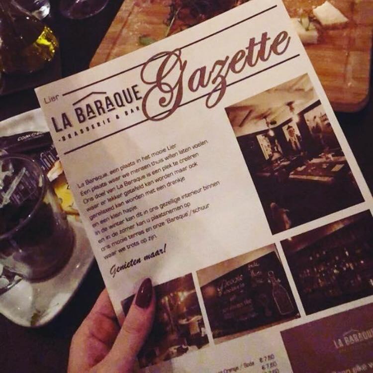 La Baraque menu